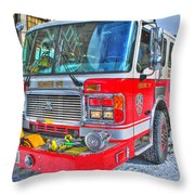 Engine 34 Readied Up Throw Pillow