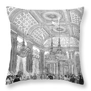 England - Royal Ball 1848 Throw Pillow