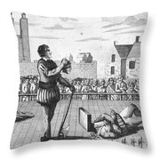 England: Beheading, 1554 Throw Pillow