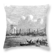 England: Boat Race, 1858 Throw Pillow