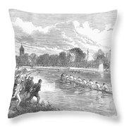 England: Boat Race, 1866 Throw Pillow