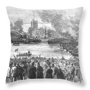 England: Boat Race, 1869 Throw Pillow