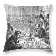 England: Chess Match Throw Pillow