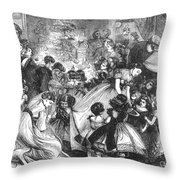 England: Christmas Party Throw Pillow