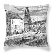 England: Coal Mining Throw Pillow