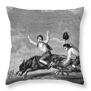 England: Donkey Race Throw Pillow