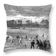England: Foot Race, 1866 Throw Pillow