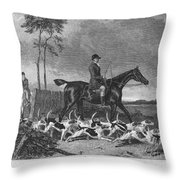 England: Fox Hunt, 1832 Throw Pillow