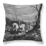 England: Fox Hunt, 1833 Throw Pillow by Granger