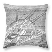England: Hampton Court Throw Pillow