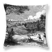 England: Manchester, 1842 Throw Pillow