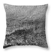 England: Manchester, 1876 Throw Pillow by Granger