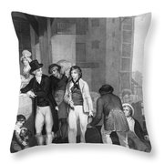 England: Merchant, 1800 Throw Pillow