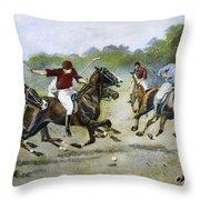 England: Polo, 1902 Throw Pillow