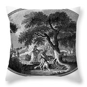England: Pulling Flax Throw Pillow