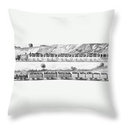 England: Railroad Travel Throw Pillow