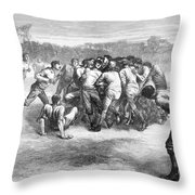 England: Rugby (1871) Throw Pillow