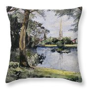 England: Salisbury Throw Pillow