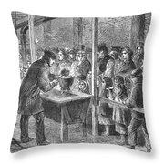 England: Soup Kitchen, 1862 Throw Pillow