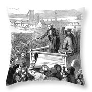 England: Textile Strike Throw Pillow