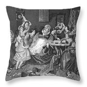 England: Village School Throw Pillow