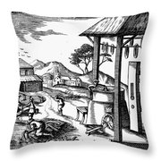 England: Water Mill Throw Pillow