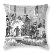 England: Winter, 1855 Throw Pillow