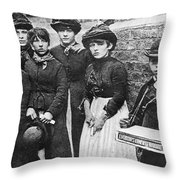 England: Women Strikers Throw Pillow