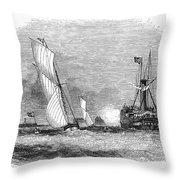 England: Yacht Race, 1843 Throw Pillow
