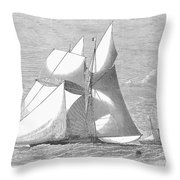 England: Yacht Race, 1868 Throw Pillow