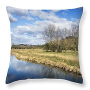 English Countryside Throw Pillow by Jane Rix