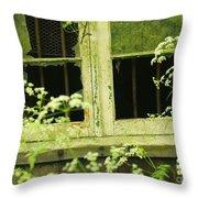 English Countryside Window Throw Pillow