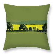 English Field Of Yellow 2 Throw Pillow