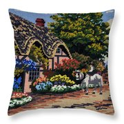 English Tapestry Throw Pillow
