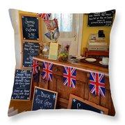 English Tearoom Throw Pillow