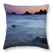 Engulfed By The Tides Throw Pillow