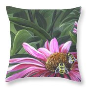 Enjoying The Flowers Throw Pillow