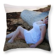 Enjoying The Sunrise Throw Pillow