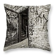 Enter And Proceed With Caution Throw Pillow