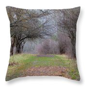 Enter The Mystery Forest Throw Pillow