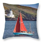 Entering Harbour Throw Pillow