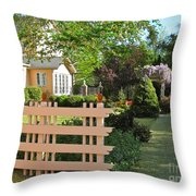 Entrance To A Victorian Garden Throw Pillow