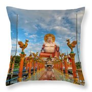 Entrance To Buddha Throw Pillow