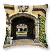 Entrance To Cecilienhof Palace Throw Pillow