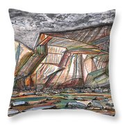 Entrance To Fjords Park Alaska Throw Pillow
