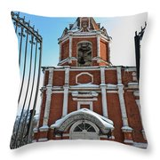 Entrance To The Church Throw Pillow