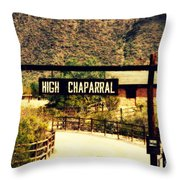 Entrance To The High Chaparral Ranch Throw Pillow