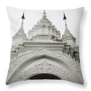 Entrance To Wat Suan Dok Throw Pillow