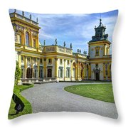 Entrance To Wilanow Palace - Warsaw Throw Pillow