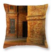 Entry To The Spanish Pavillion In Sevilla Spain Throw Pillow